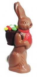 Form für Schokolade: Hase mit Korb, 18 cm