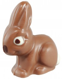 Form für Schokolade: Hase, 5 St. á 6 cm