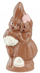 Form für Schokolade: Hasenpaar, 18 cm