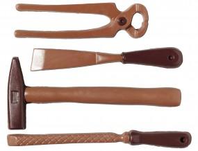Form für Schokolade: Werkzeug, 4 St. á 17-24 cm