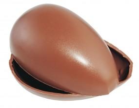 Form für Schokolade: Ei, 4 á 9 cm, Oberteil