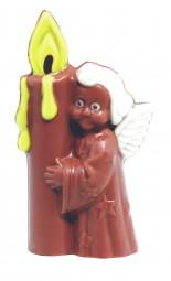 Form für Schokolade: Engel mit Kerze, 11,5 cm