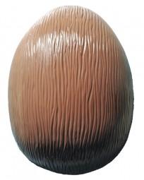 Form für Schokolade, Ei, nur Oberteil, 45 cm, Borkenmuster