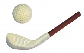Form für Schokolade: Golfschläger m.Ball,Relief, 17,5 cm