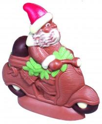 Form für Schokolade: Nikolaus auf Vespa, 12 cm