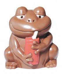 Form für Schokolade: Frosch mit Cola-Dose, 12 cm