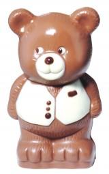 Form für Schokolade: Bär mit Weste, 13,5 cm