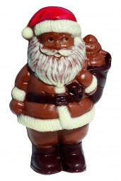 Form für Schokolade: Weihnachtsmann m.Sack, 3 St.á 9,5 cm