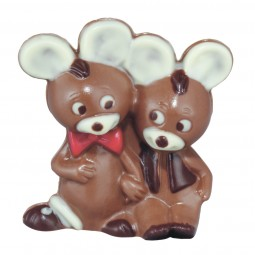 Form für Schokolade: Mäusepaar, 8 cm