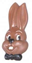 Form für Schokolade: Hasenkopf-Mann, Relief 2 St. 16,5 cm
