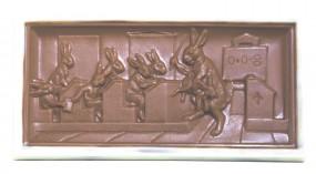 Form für Schokolade: Oster-Tafel, Relief, 200 g,