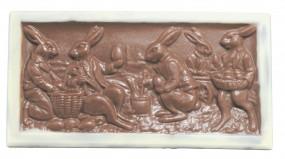 Form für Schokolade: Oster-Tafel, Relief, 100 g