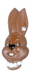 Form für Schokolade: Hasenkopf-Frau, Relief 2 St., 17cm