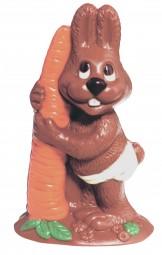 Form für Schokolade: Hase, mit Möhre