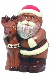 Form für Schokolade: Weihnachtsmann/Rentier, ca. 17 cm