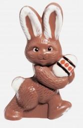 Form für Schokolade: Hase mit Ei, 14.5 cm