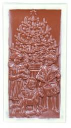 Form für Schokolade: 2 Stück Weihnachts-Tafel, Relief, 100 g