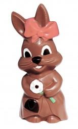 Form für Schokolade: Hasenmädchen mit Blume, 18,5 cm