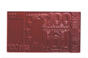 Form für Schokolade: 100 EURO-Schein / Relief / ca.100 g / 14 x 8 x 0,9 cm