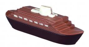 Form für Schokolade:, Dampfer / 18 x 5 cm