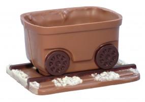 Form für Schokolade: Wagen zur Lok m. Schiene, 9x7x5 cm