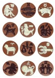 Form für Schokolade: Sternzeichen, 7 cm , 2 x 6 á 40 g