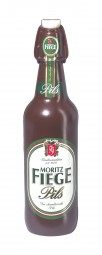 Form für Schokolade: Motiv: Bierflasche / Bügelverschluß 0,5 Ltr. / 27 cm