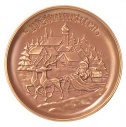 Form für Schokolade, Weihnachtsteller, 17 cm, ca. 175 g bis 200 g
