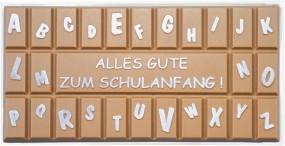 Form für Schokolade, Schulanfang Schokoladentafel, Tafelware, 100 g, Relief