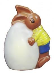 Form für Schokolade, Hase umarmt Ei, 13,5 cm