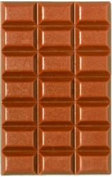 Form für Schokolade: Tafelware, Relief, 4 St. á 25 g