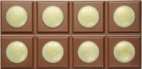 Form für Schokolade, Fussball Schokoladetafel, Tafelware, 100 g, Relief