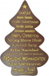 Form für Schokolade, Weihnachtsbaum, Relief, mit Schrift, 100 g