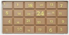 Form für Schokolade, Schokoladentafel Adventkalender , Tafelware, 100 g
