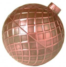 Form für Schokolade: Weihnachtskugel - Gitter