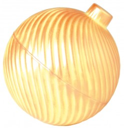 Formen für Schokolade: Weihnachtskugel - Spirale