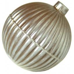 Form für Schokolade: Weihnachtskugel - Streifen