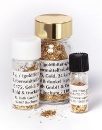 echt Gold, 24 Karat Goldflitter / grob 3 Gramm