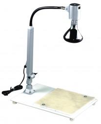 Zucker-Arbeitsplatte mit Schwanenhals und Lampe