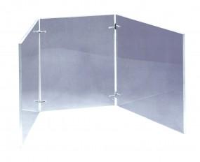 Windschutz für Zuckerarbeitsplatte aus 10 mm Plexiglas, mit Steckschanier