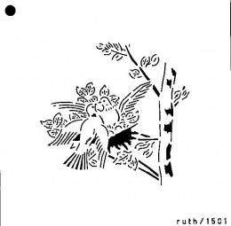 Sieb-Schablone Turteltauben