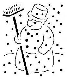 Sieb-Schablone Schneemann