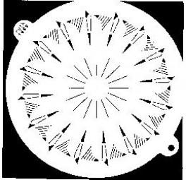 Sieb-Schablone Rand, Einteilung: 14 St.
