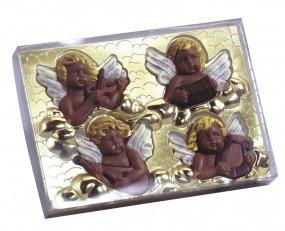 Klarsichtstülpschachtel - ohne Druck - m.Goldblister / 210 x 150 x 31 mm 1 Set = 50 Stück