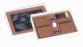 Klarsichtstülpdeckelschachtel m.Goldblistereinlage, 1 Set = 50 St. 150 x 106 x 31 mm