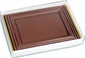Klarsichtstülpschachtel / VE = 50 Stück m.Goldblister / 210 x 150 x 29 mm