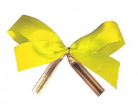 Clip-Schleife, 22 mm Schleife gelb 1 VE = 250 Stück