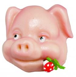 Form für Marzipan: Schweine-Kopf, 65 g