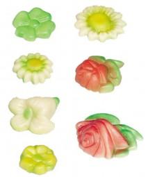 Form für Marzipan: 7 Blumen