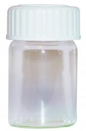 Saugbecher aus Glas á 15 ml mit Kunststoffdeckel